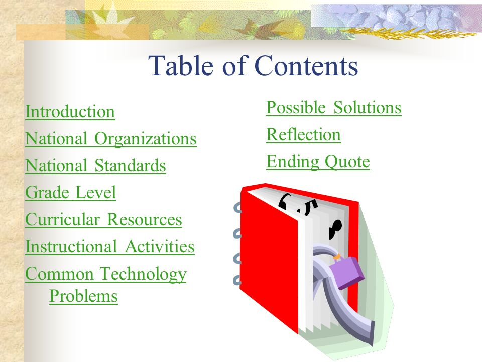 Table of Contents Possible Solutions Introduction Reflection