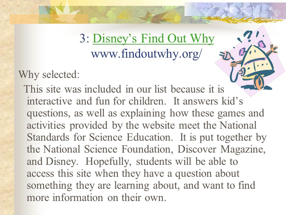3: Disney's Find Out Why