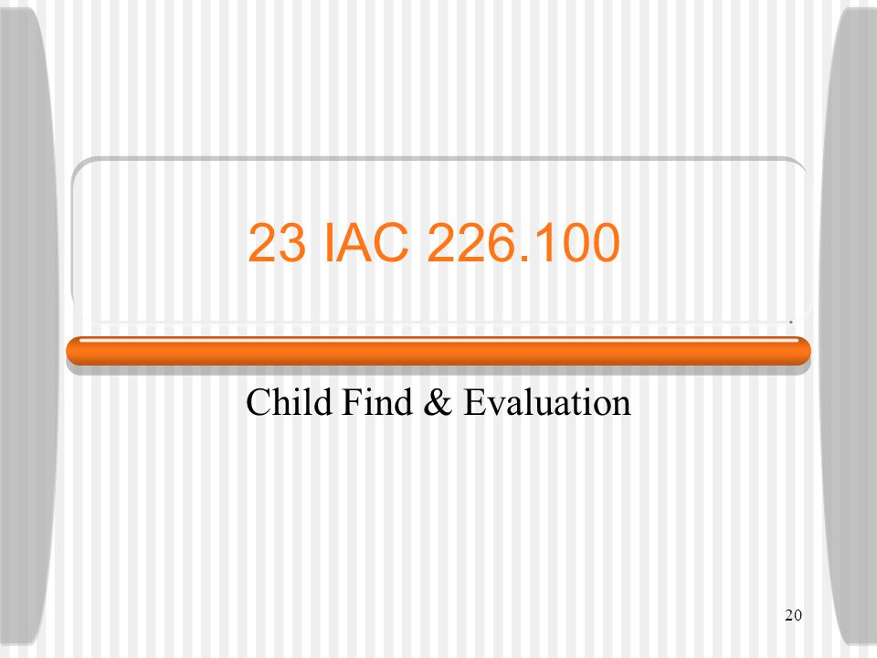 Child Find & Evaluation
