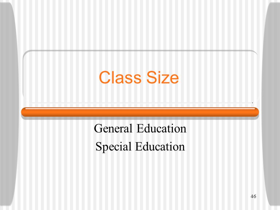 General Education Special Education