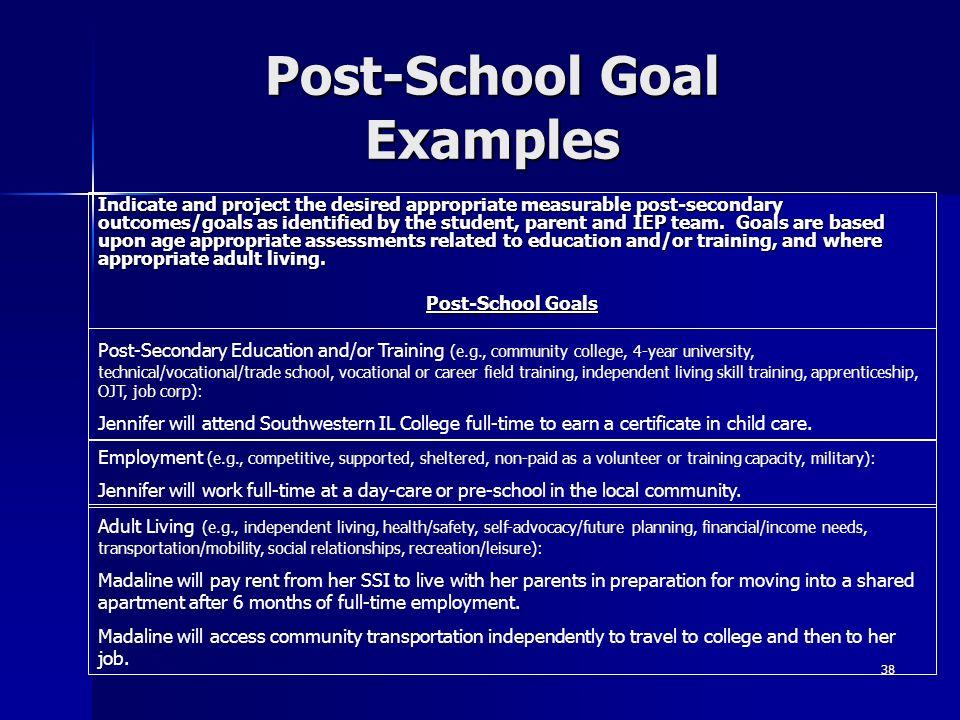 Post-School Goal Examples