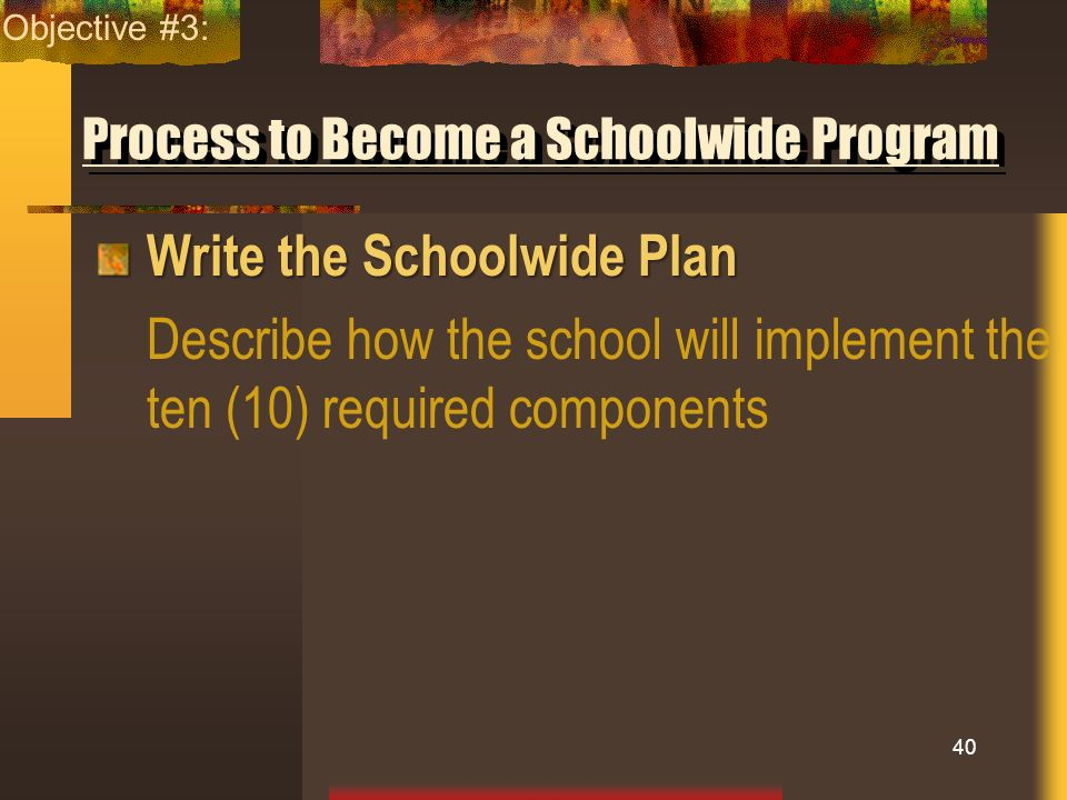Process to Become a Schoolwide Program