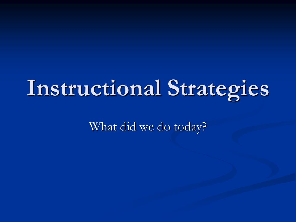 instructional strategies for reading