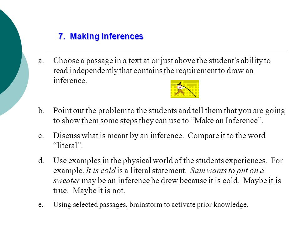7. Making Inferences