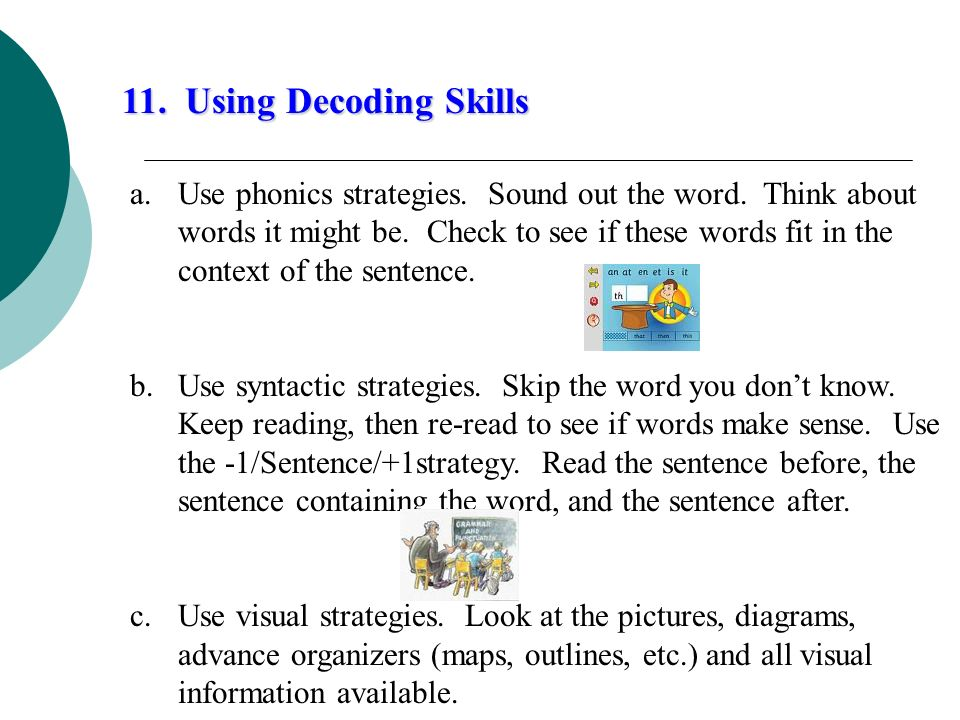 11. Using Decoding Skills