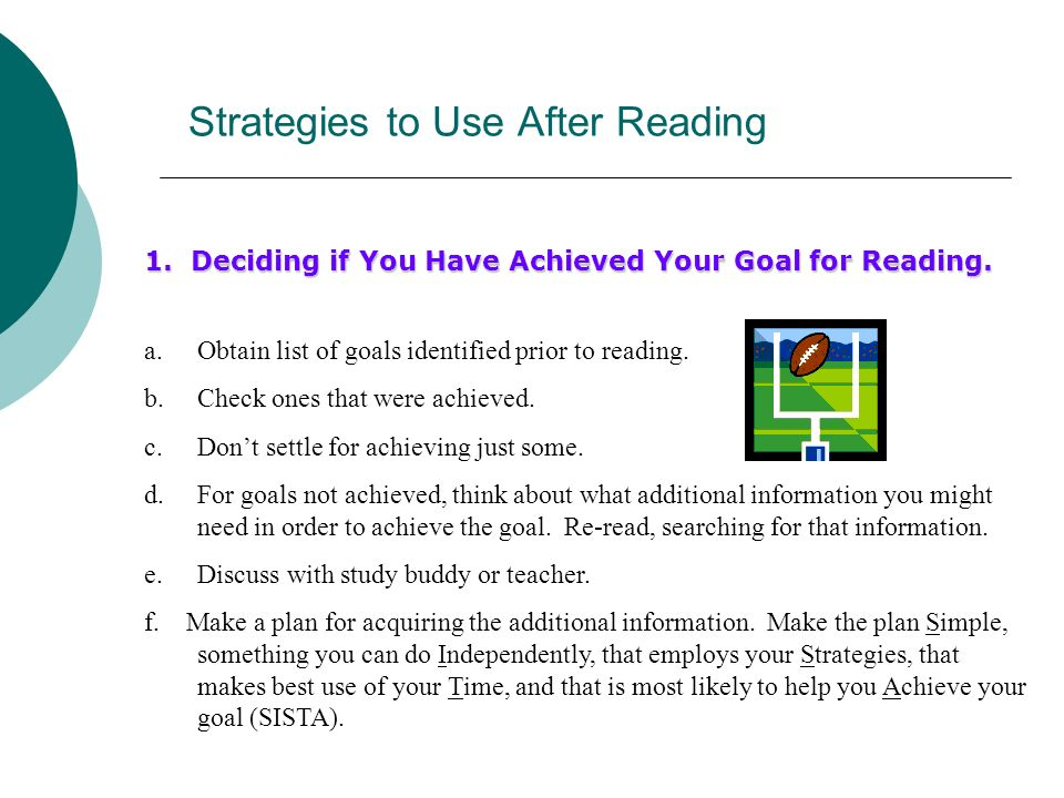 Strategies to Use After Reading
