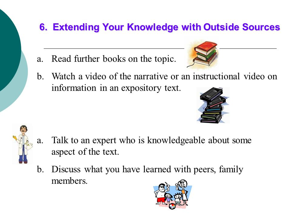 6. Extending Your Knowledge with Outside Sources