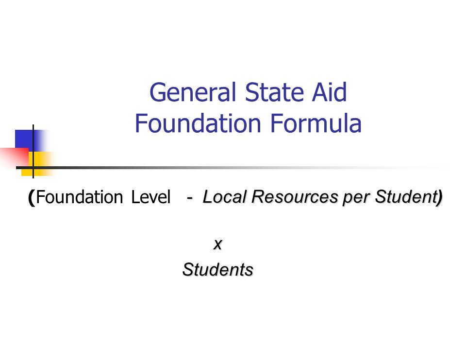 General State Aid Foundation Formula