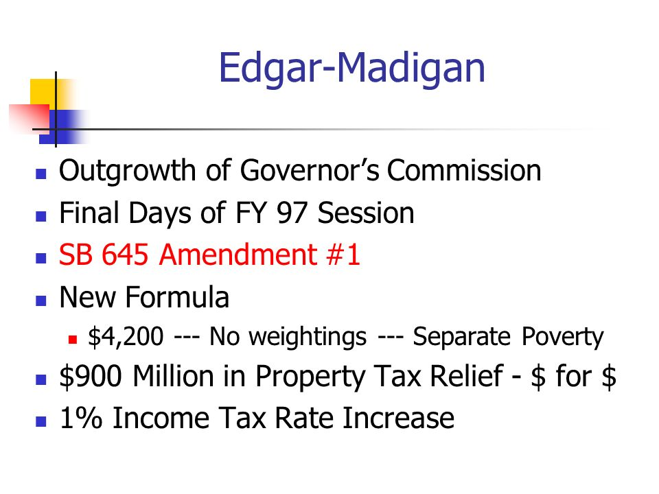 Edgar-Madigan Outgrowth of Governor's Commission
