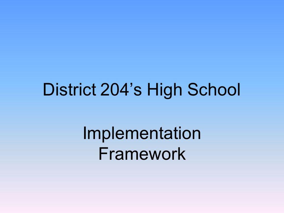 District 204's High School