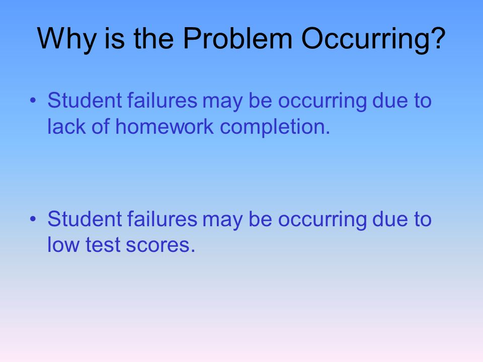 Why is the Problem Occurring