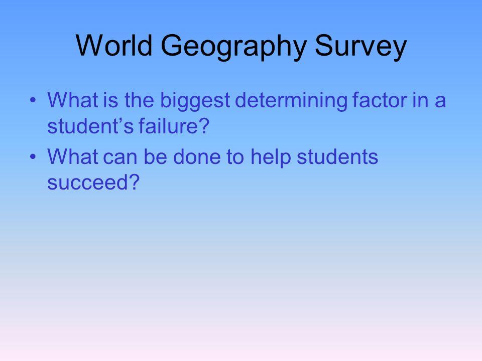World Geography Survey