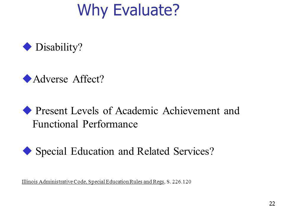 Why Evaluate Disability Adverse Affect