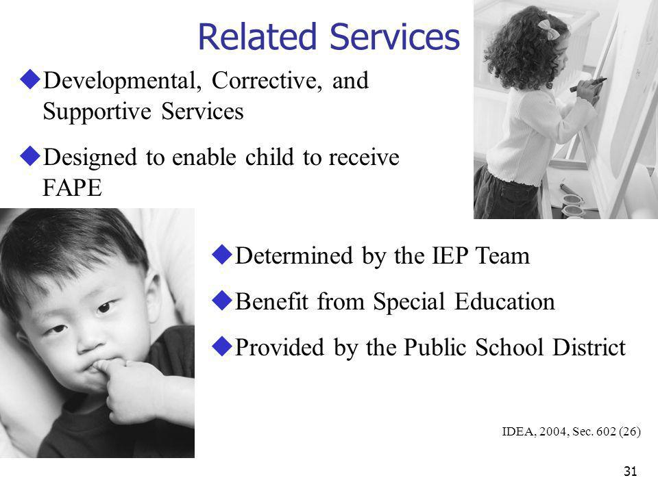 Related Services Developmental, Corrective, and Supportive Services