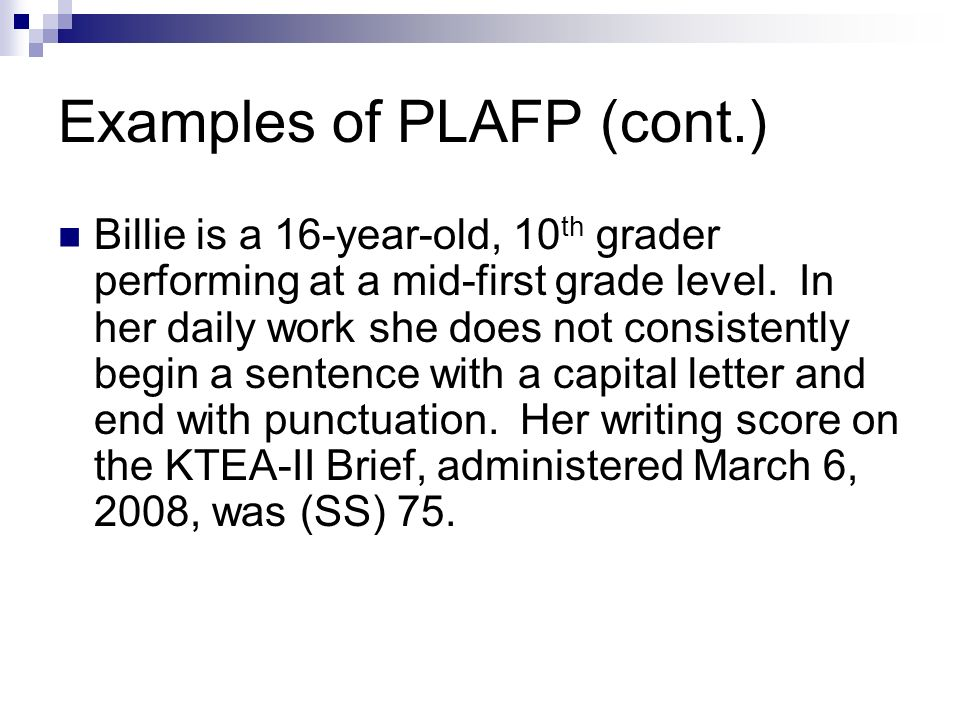 Examples of PLAFP (cont.)