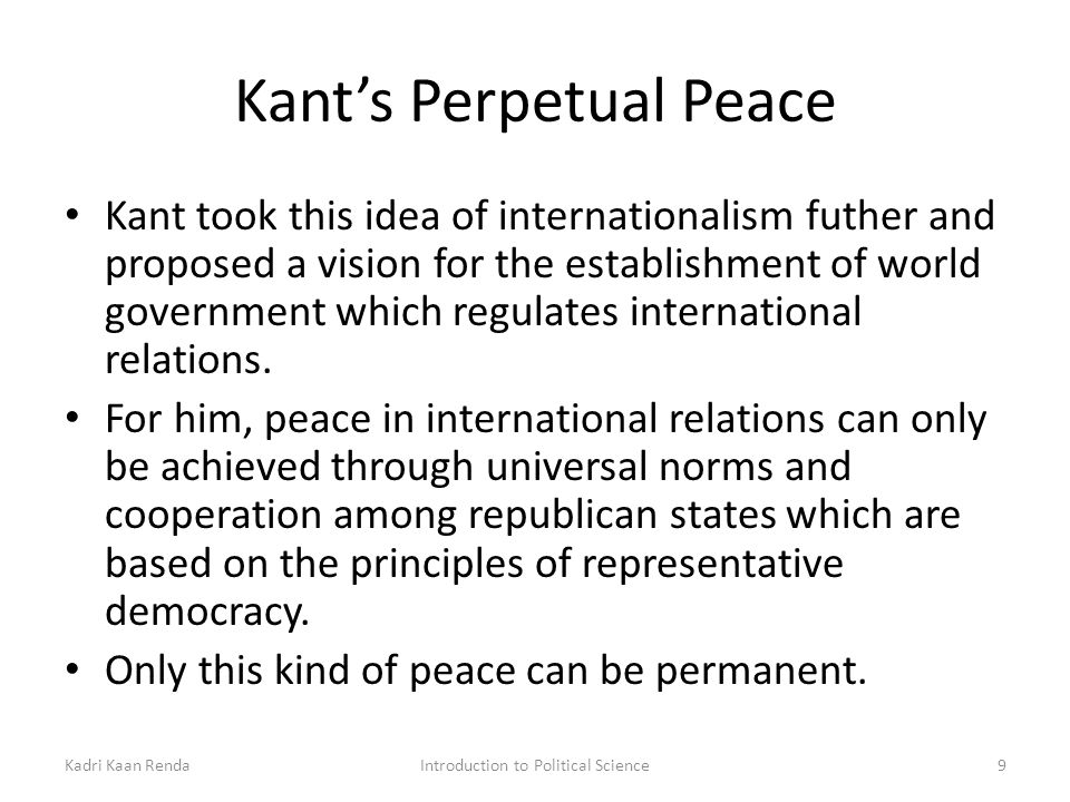 kant essay on perpetual peace
