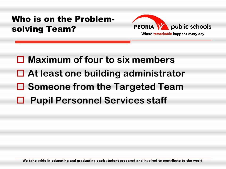 Who is on the Problem-solving Team