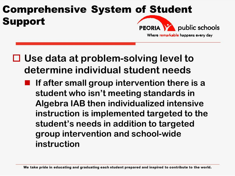 Comprehensive System of Student Support