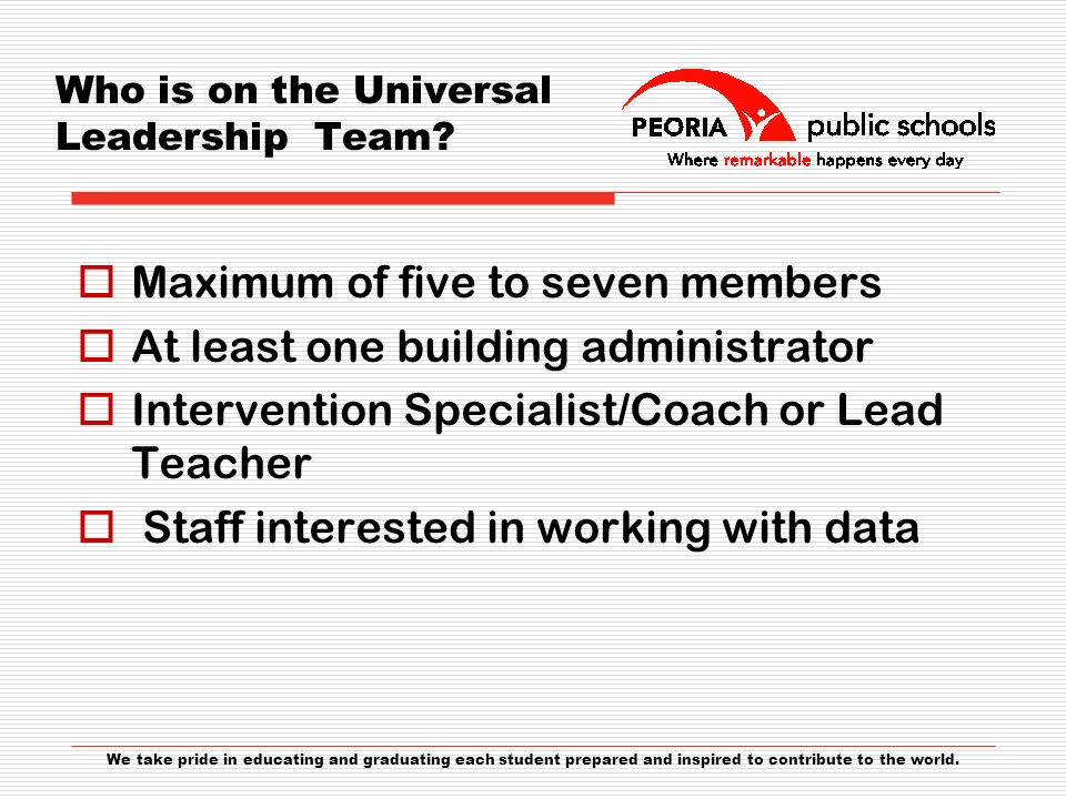 Who is on the Universal Leadership Team