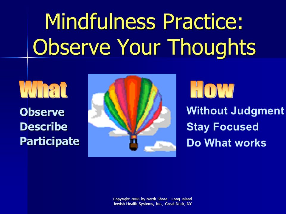 Mindfulness Practice: Observe Your Thoughts