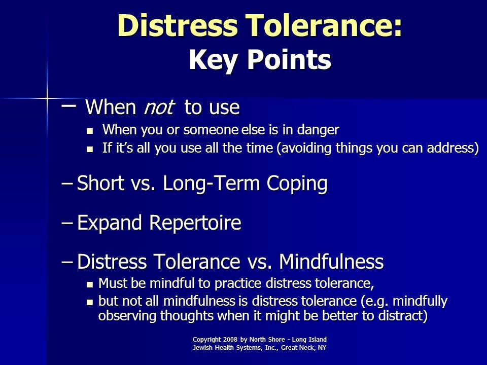 Distress Tolerance: Key Points