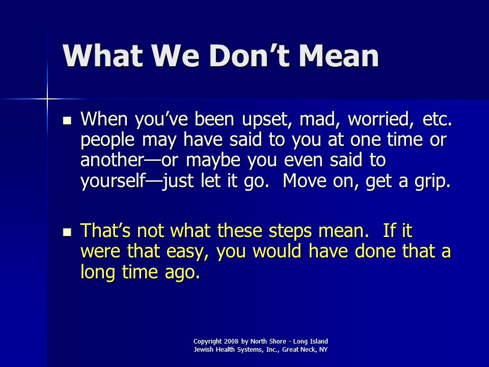 What We Don't Mean