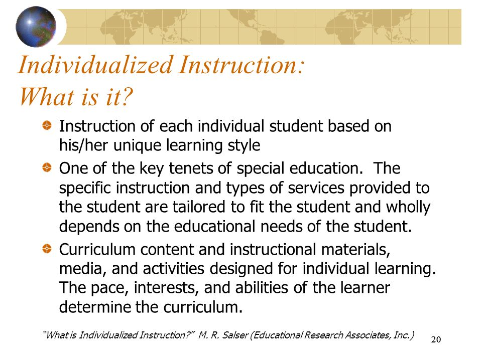 Individualized Instruction: What is it
