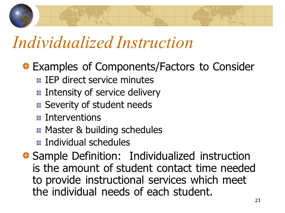 Individualized Instruction