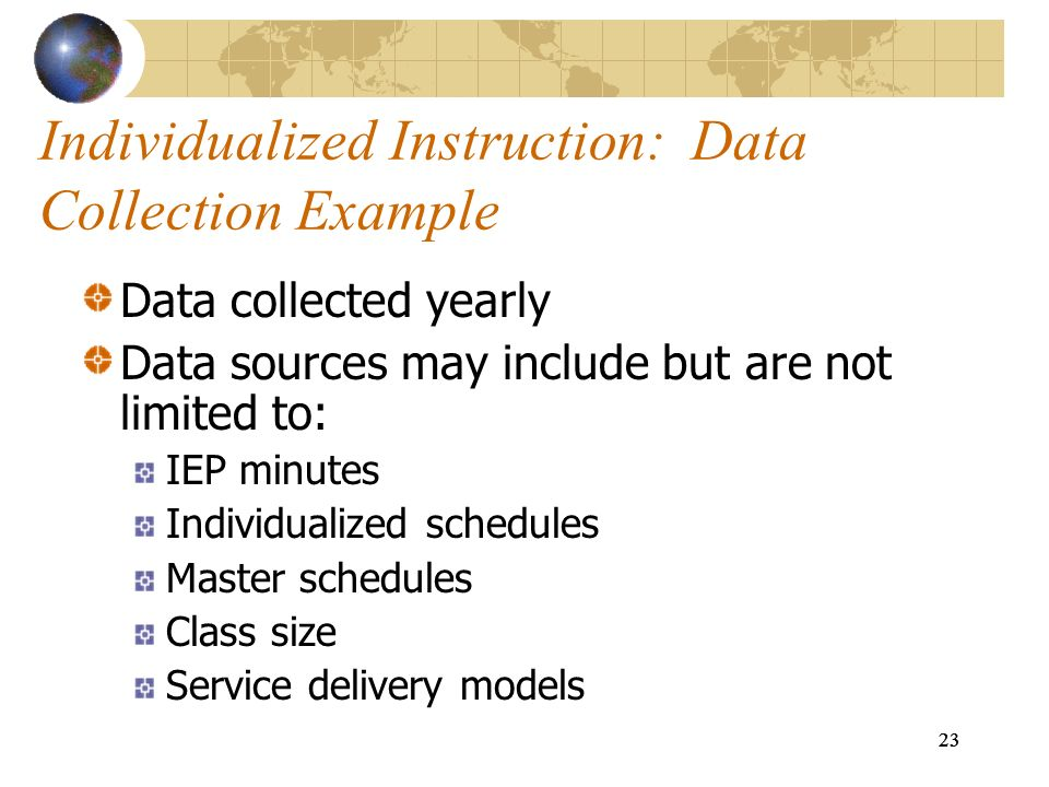 Individualized Instruction: Data Collection Example