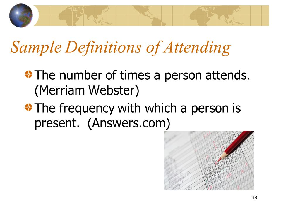Sample Definitions of Attending