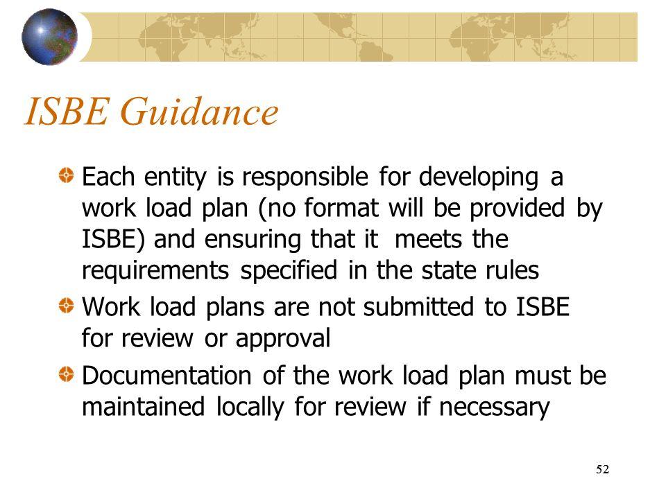 ISBE Guidance