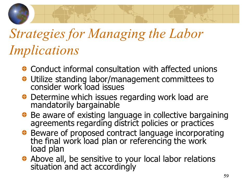 Strategies for Managing the Labor Implications