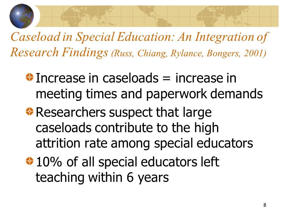 10% of all special educators left teaching within 6 years