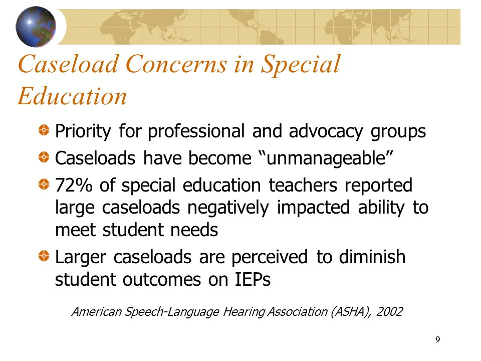 Caseload Concerns in Special Education