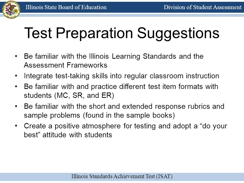 Test Preparation Suggestions