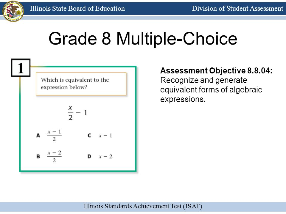 Grade 8 Multiple-Choice
