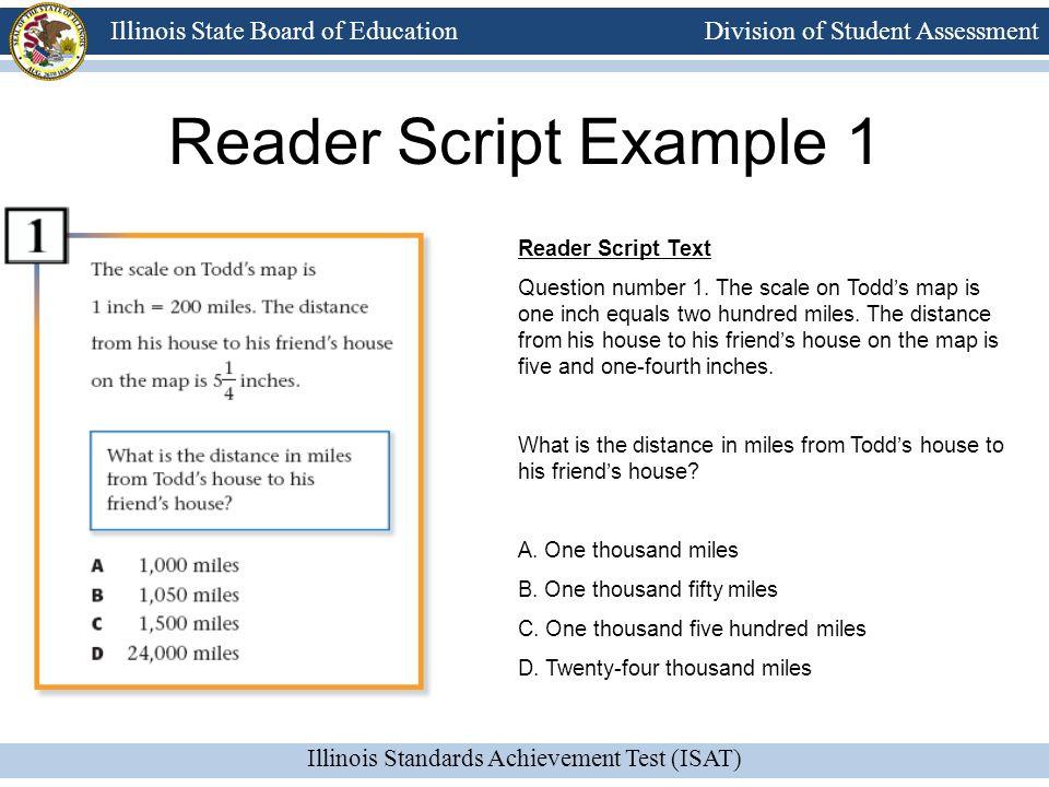 Reader Script Example 1 Reader Script Text