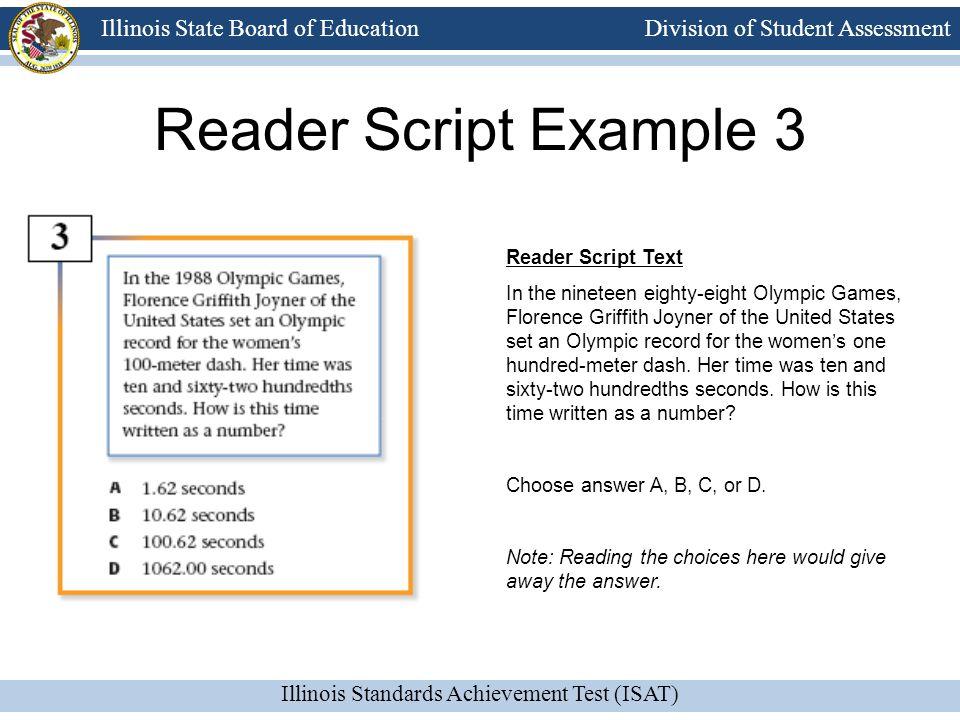 Reader Script Example 3 Reader Script Text