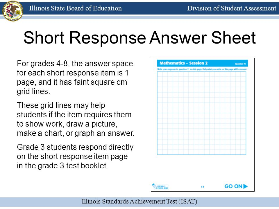 Short Response Answer Sheet