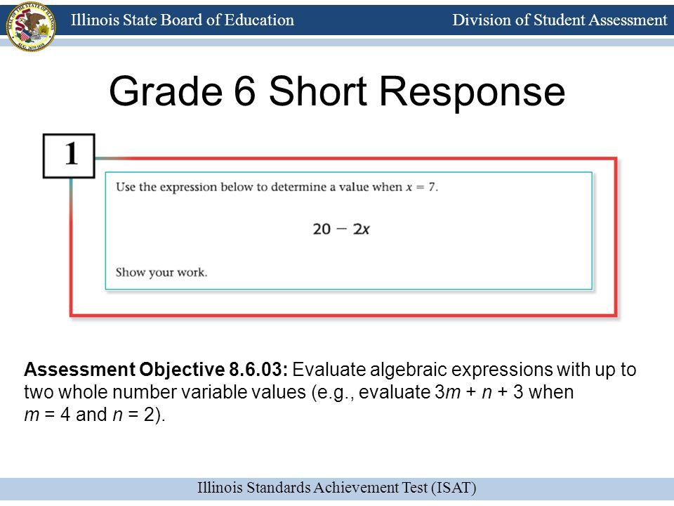 Grade 6 Short Response