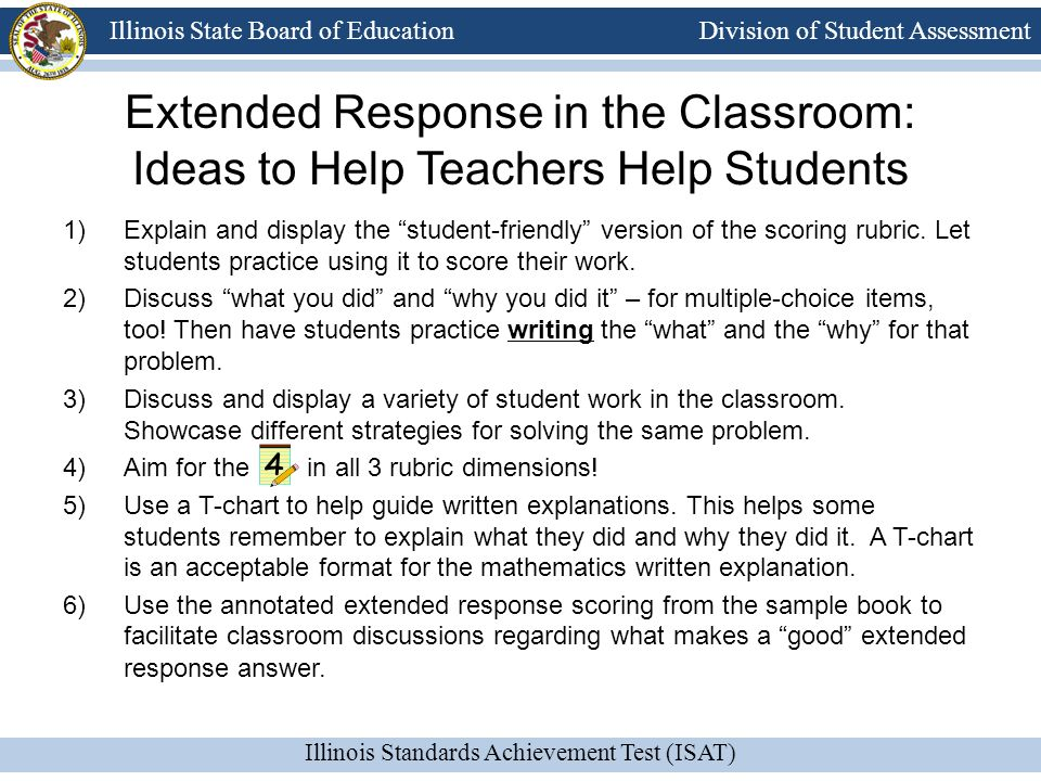Extended Response in the Classroom: Ideas to Help Teachers Help Students