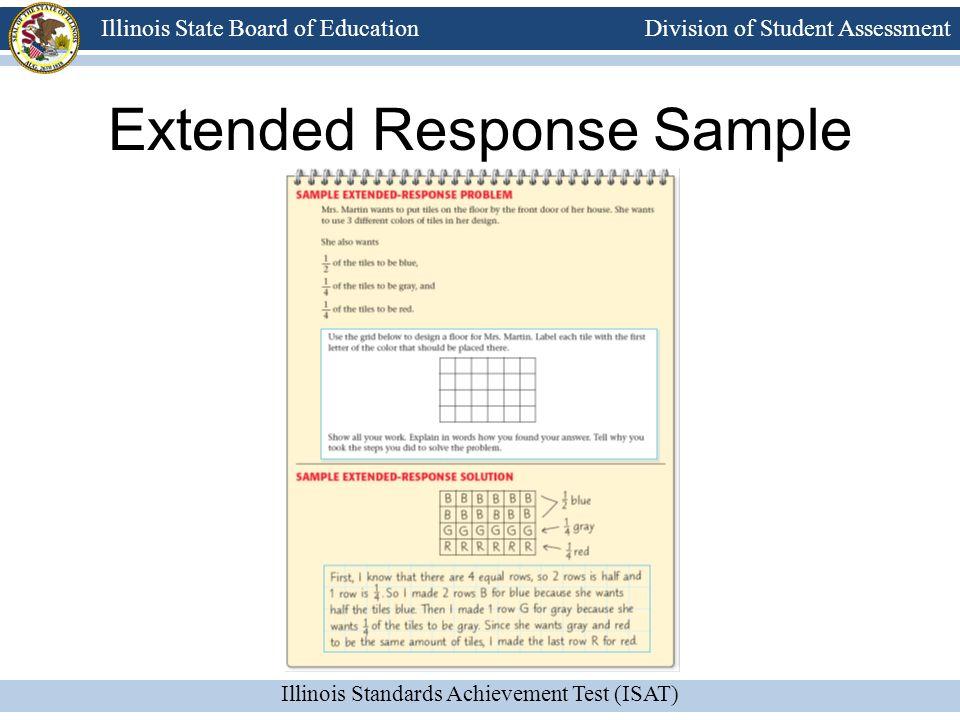 Extended Response Sample
