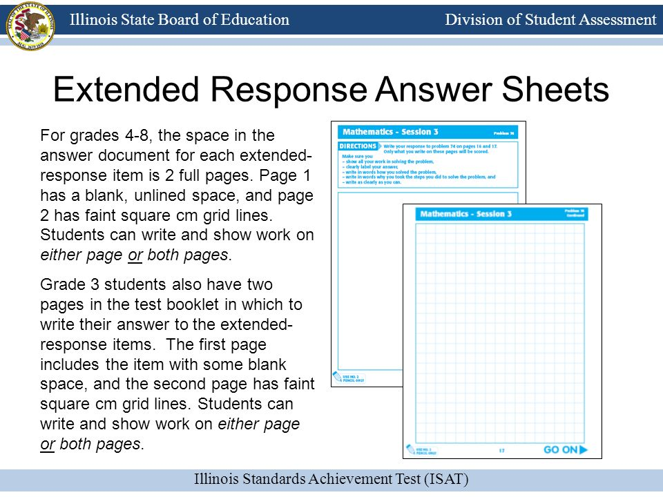 Extended Response Answer Sheets