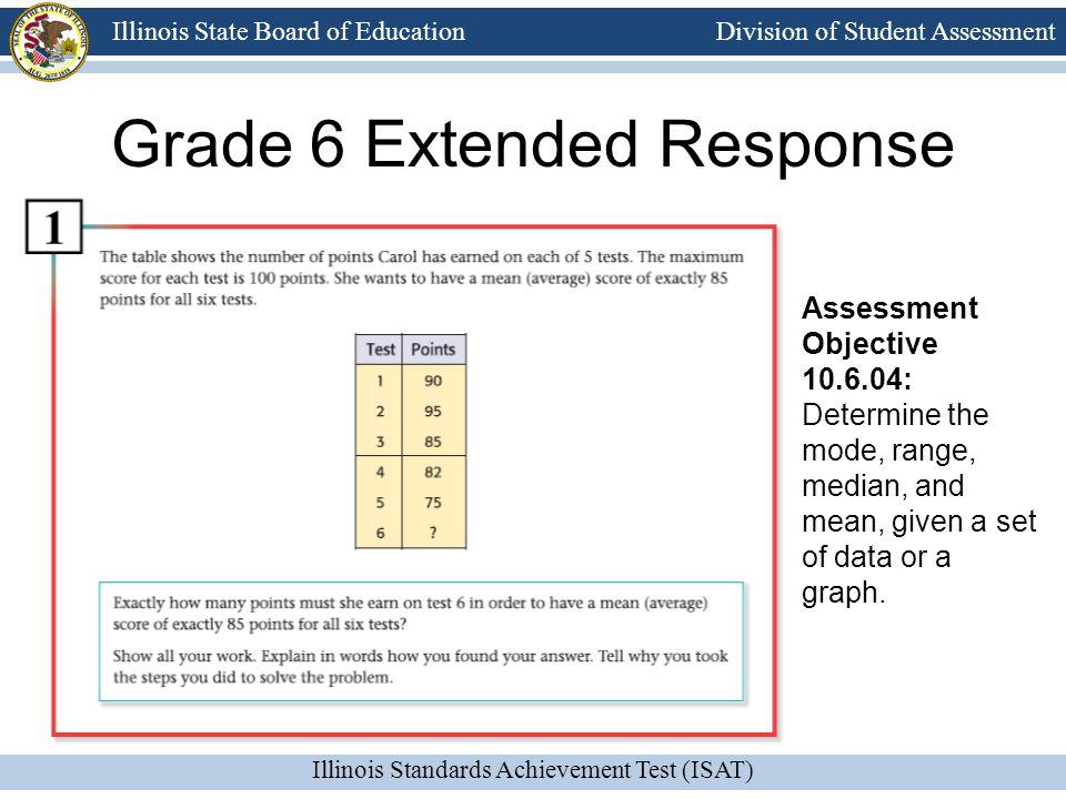 Grade 6 Extended Response