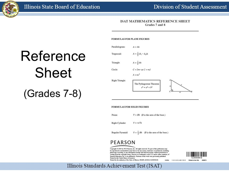 Reference Sheet (Grades 7-8)