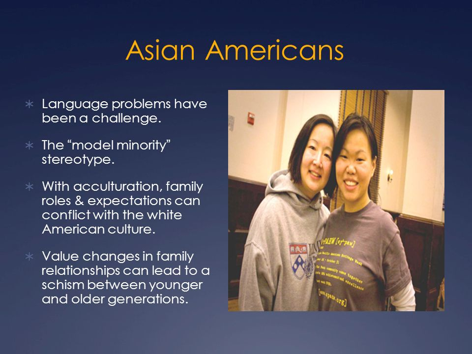 a report on asian americans as model minorities in the modeling industry Weaponizing the model minority the model minority myth also exacts costs on asian american workers as well, of course though asian men are so overrepresented in the overall workforce of.
