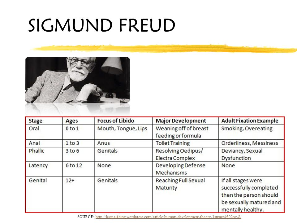 Sigmund freud theory of human development