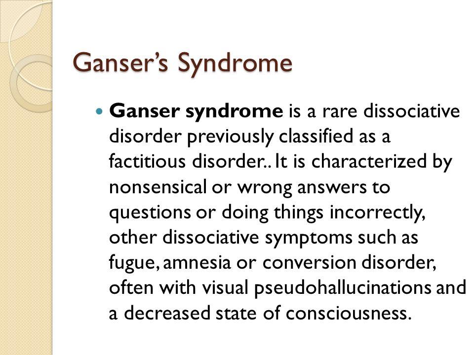 Ganser's Syndrome