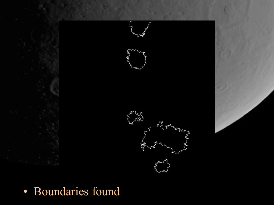 Boundaries found
