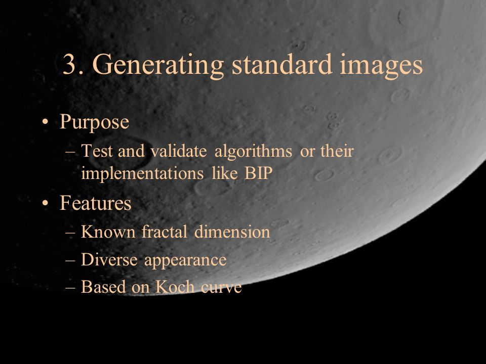 3. Generating standard images